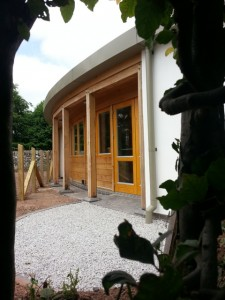 New extension to Almeley Wootton Quaker meeting house.